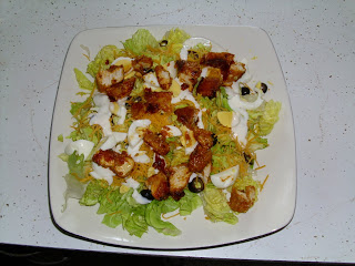 Homemade Buffalo Style Baked Chicken Salad 'like' Applebees