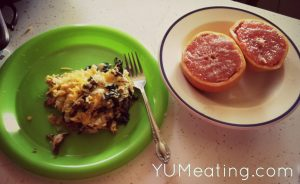 broiled grapefruit and eggs