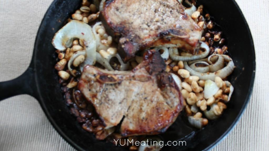 skillet pork and beans