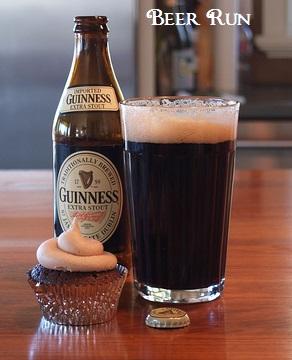 'Beer Run' Guinness Cupcakes