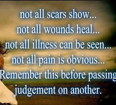 scars and pain