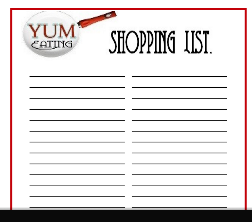 photograph relating to Coupon Binder Printable called Totally free Printable Purchasing Checklist for your Planner or Coupon