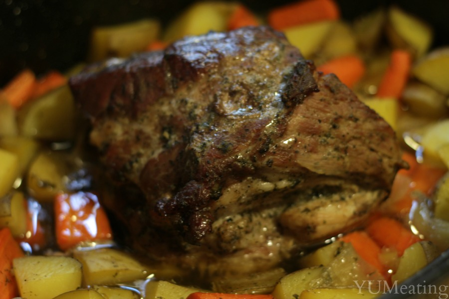 pork ranch roast with vegetables
