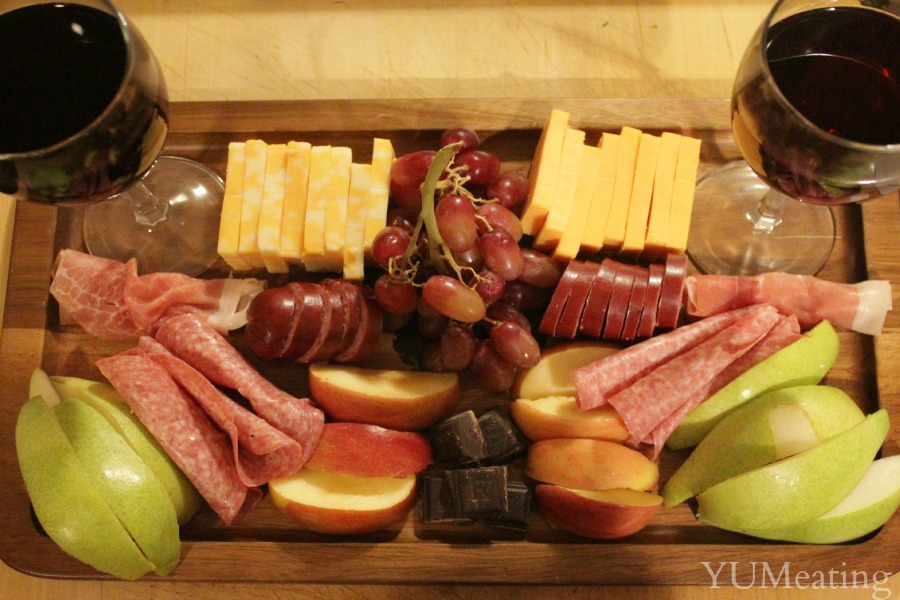wine and cheese platter whole