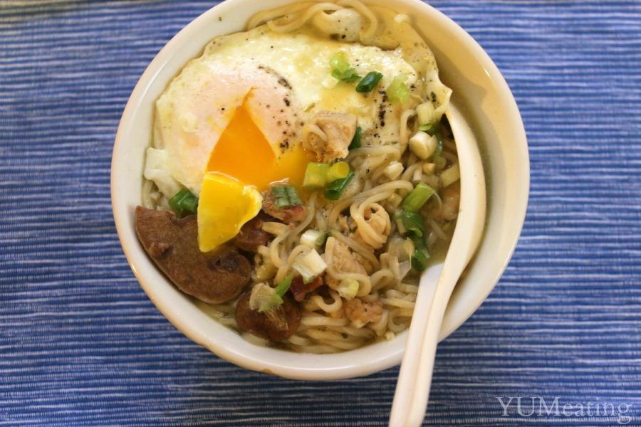 broken yolk egg ramen noodle