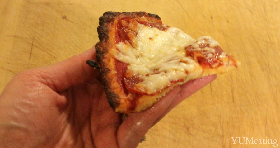 chicken and cheese crust pepperoni pizza