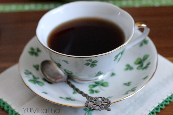 irish breakfast tea shamrock cup
