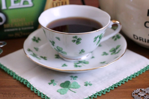 irish breakfast tea shamrocks