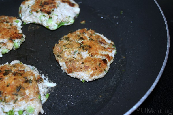 tasty tuna cakes golden brown