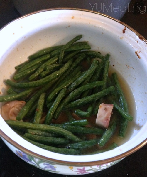 soaking green beans