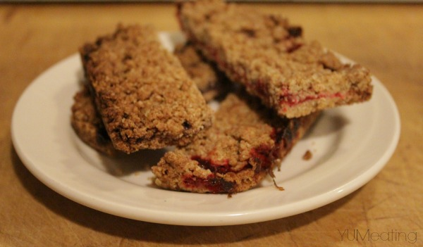 fruit filled oat bars berry