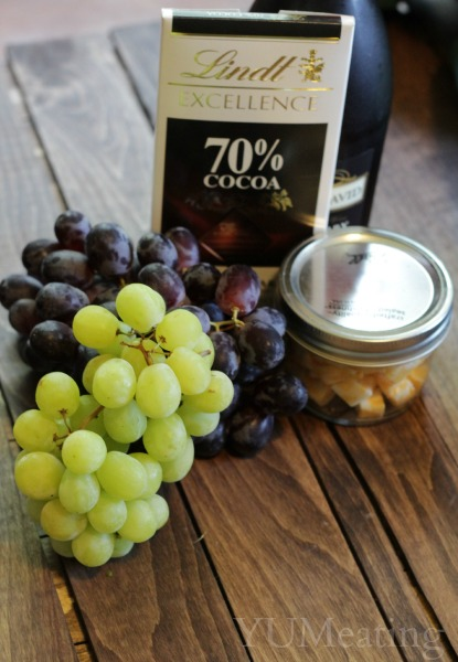 grapes wine cheese