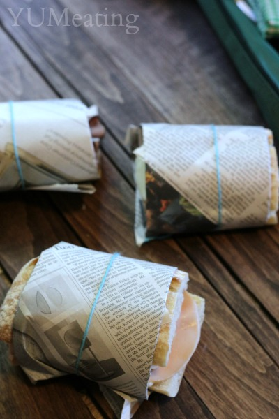 newspaper wrapped eats