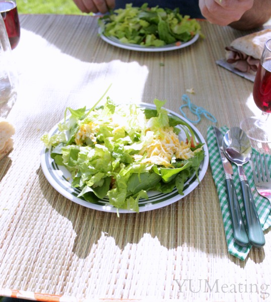 picnic salad plated
