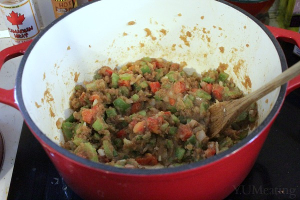 vegetable gumbo mixture