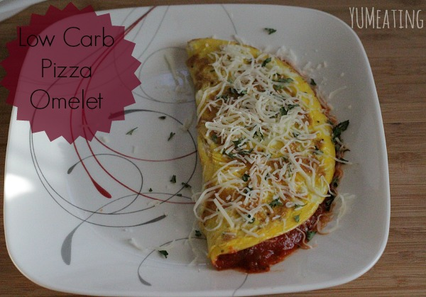 low carb pizza omelet plates