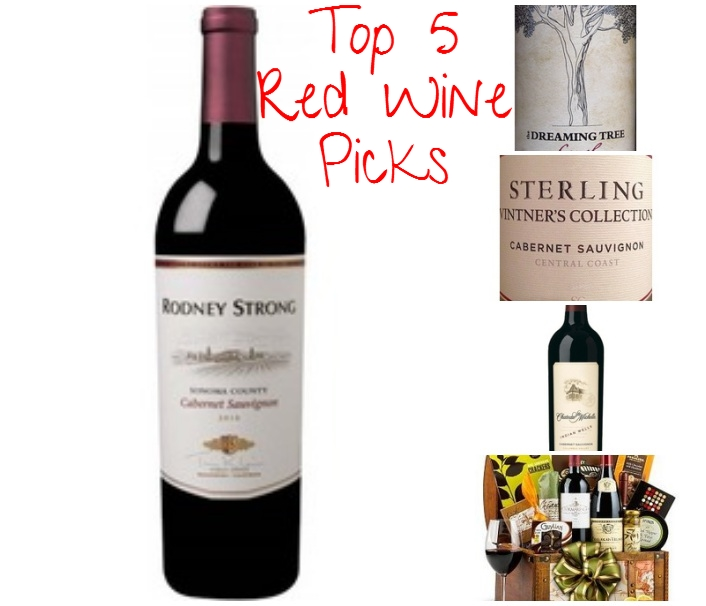 Top 5 Red Wine Picks -collage