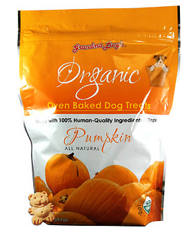 Grandma Lucy s Organic Pumpkin Oven Baked Dog Treats  14 oz bag
