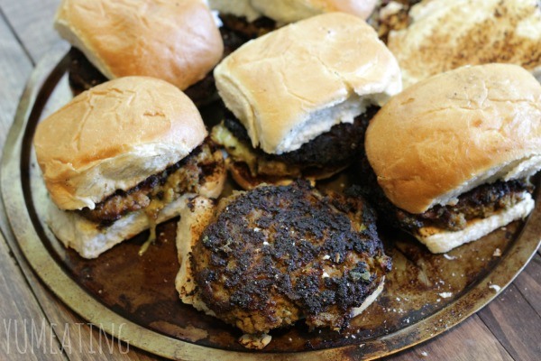 stuffed veal burgers grilled