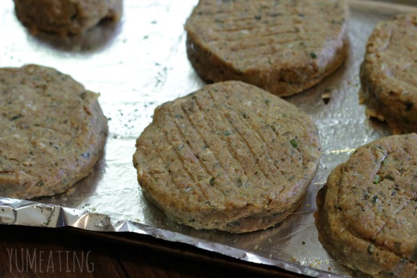 stuffed veal burgers ready to go