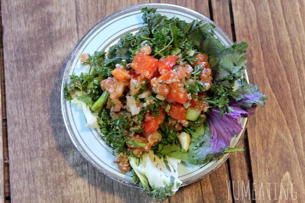 vegan sugar free bulgur salad