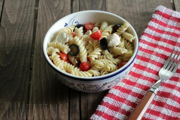 caprese pasta salad comfort food