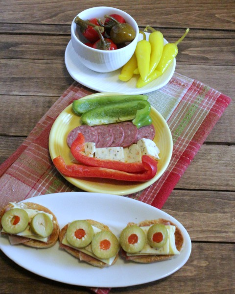 olive bites and snack peppers