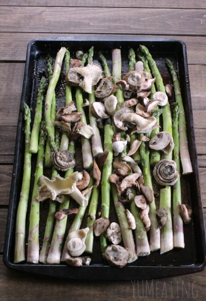 asparagus and mushroms