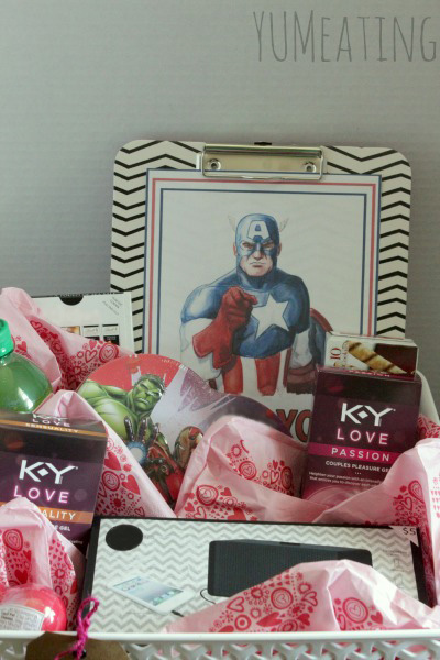 captain america ky love valentines basketREDO