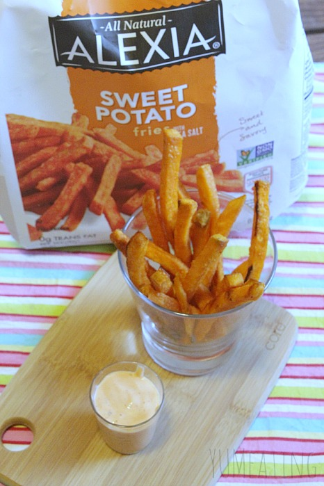 Sriracha Blue Ranch Sweet Potato Fries