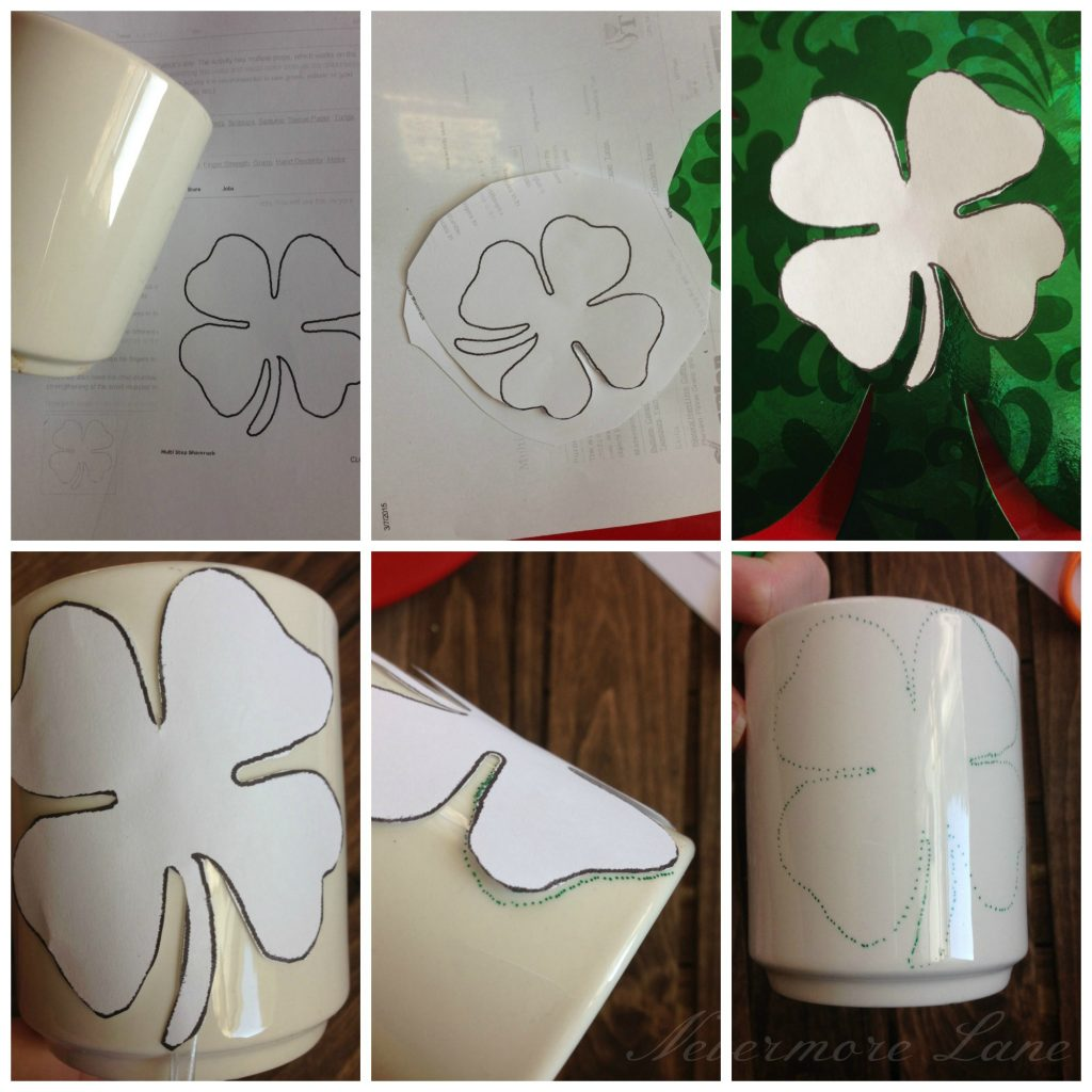 #DIY St. Patrick's Day Shamrock Mug #IrishAmericanHeritageMonth