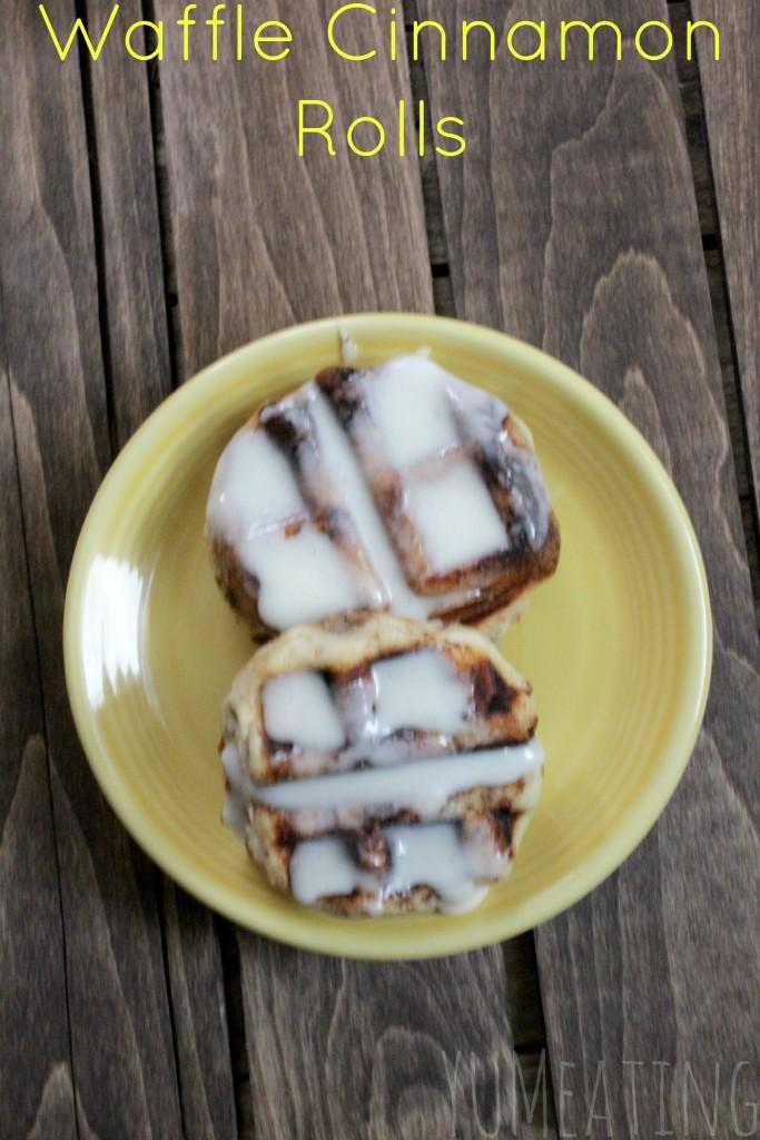 Waffle Cinnamon Rolls | YUM eating