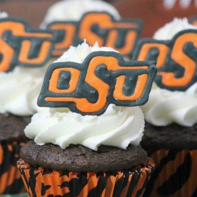 (OSU) Oklahoma State University Cupcakes #GoPokes #BleedOrange