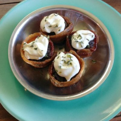 Low Carb Bacon Meatloaf Muffins #keto