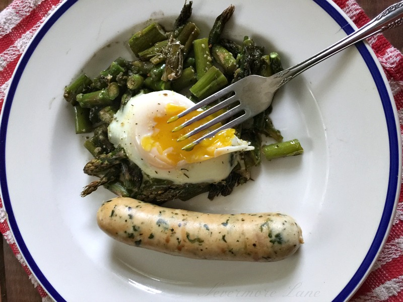 Low Carb Asparagus Egg Bake | Nevermore Lane