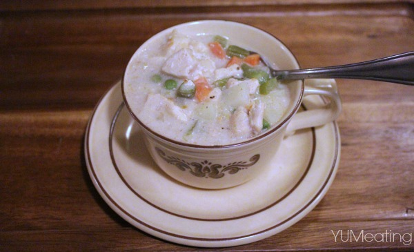 skinny chicken pot pie cup soup - Nevermore Lane
