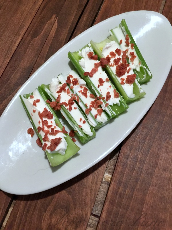 Celery, Cream Cheese and Bacon | Nevermore Lane