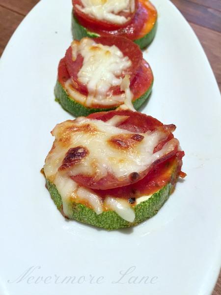Zucchini Pizza Bites | Nevermore Lane