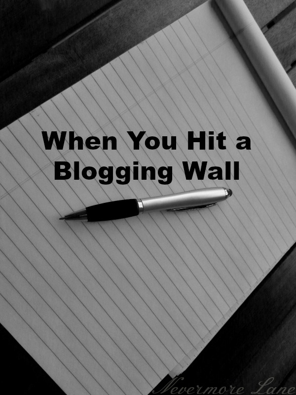 when you hit a blogging wall