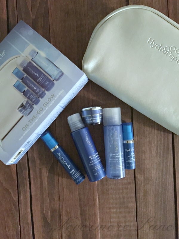 Traveling with HydroPeptide On-the-Go-Glow #hydropeptide #beauty
