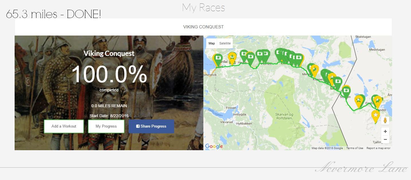 Viking Conquest 65.3 Miles : Complete !!